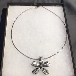 Silpada Sterling Silver Flower Pendant Necklace